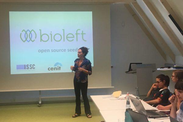 Anabel Marín presenta Bioleft en Alemania
