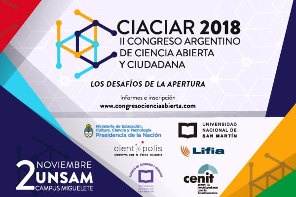 Bioleft en Ciaciar, el II Congreso Argentino de Ciencia Abierta y Ciudadana