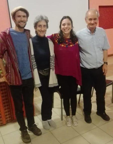 Alex Edleson, Lidia Getino de AABDA, Almendra Cremaschi de Bioleft y Antonio Lattuca de Banco de Semillas Ñanderoga.