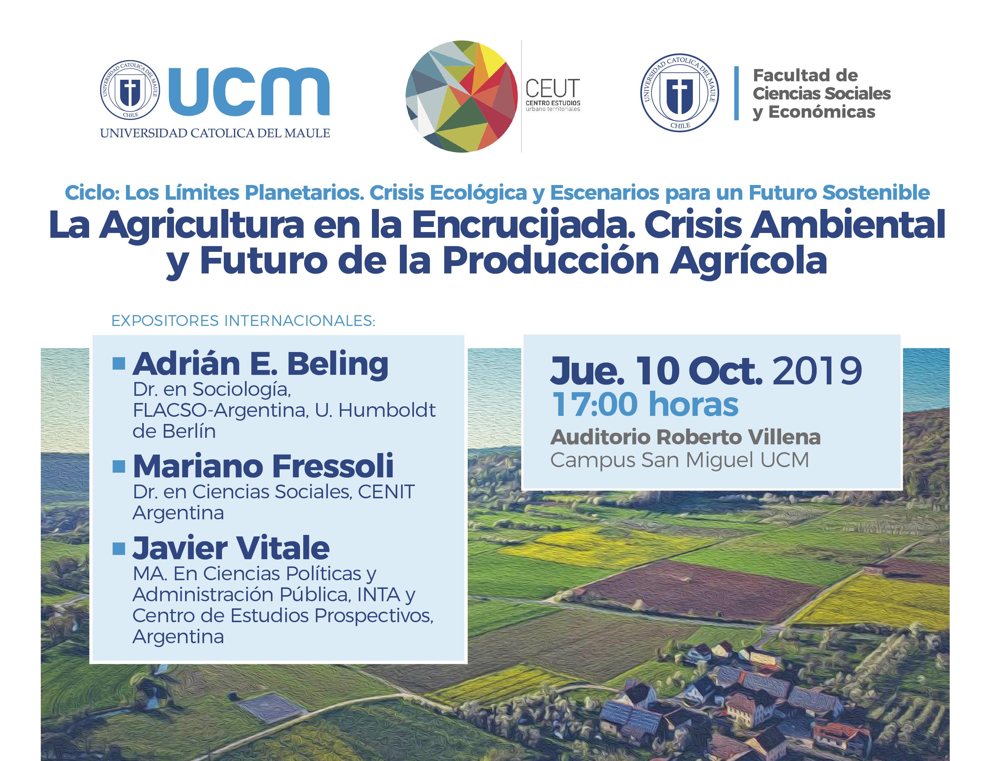 """Conferencia """"La agricultura en la encrucijada"""""""
