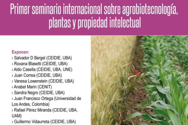 Plantas, propiedad intelectual y desarrollo: seminario internacional