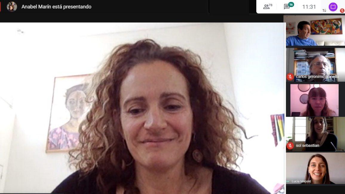 Anabel Marín en el seminario de la EEyN
