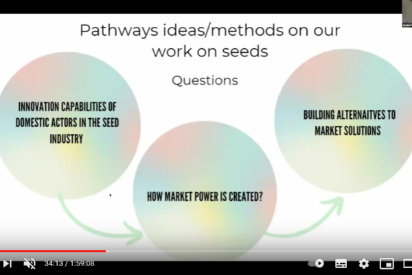 Bioleft's methods: Anabel Marín at the ESRC -STEPS webinar, Challenging Research for Sustainability